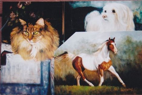 Painting the Cat, Dog and Horse